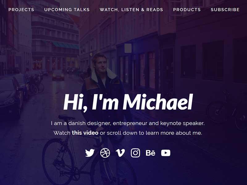 طراحی سایت شخصی حرفه ای، دیزاینیو